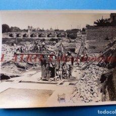 Fotografía antigua: VALENCIA - CONSTRUCCION DEL PUENTE DE ARAGON - FOTOGRAFICA - AÑO 1930. Lote 178099108