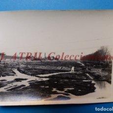 Fotografía antigua: VALENCIA - CONSTRUCCION DEL PUENTE DE ARAGON - FOTOGRAFICA - AÑO 1930. Lote 178099472