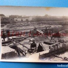 Fotografía antigua: VALENCIA - CONSTRUCCION DEL PUENTE DE ARAGON - FOTOGRAFICA - AÑO 1930. Lote 178099589