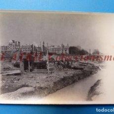 Fotografía antigua: VALENCIA - CONSTRUCCION DEL PUENTE DE ARAGON - FOTOGRAFICA - AÑO 1930. Lote 178099809