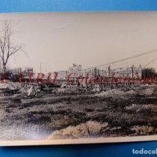 Fotografía antigua: VALENCIA - CONSTRUCCION DEL PUENTE DE ARAGON - FOTOGRAFICA - AÑO 1930. Lote 178100047