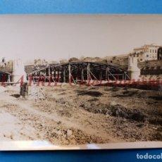 Fotografía antigua: VALENCIA - CONSTRUCCION DEL PUENTE DE ARAGON - FOTOGRAFICA - AÑO 1931. Lote 178100175