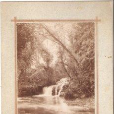 Fotografía antigua: MONATERIO DE PIEDRA (ZARAGOZA) CASCADA BAÑOS DE DIANA. FOTOGRAFÍA DE NAPOLEÓN.. Lote 178141910