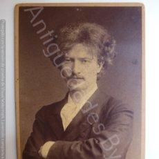 Fotografía antigua: FOTOGRAFÍA ANTIGUA ORIGINAL. PIANISTA PADEREWSKI. (16,5 X 10,5 CM). Lote 178202177