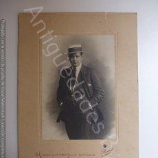 Fotografía antigua: FOTOGRAFÍA ANTIGUA ORIGINAL. FIRMADA POR EL MÚSICO GIUSEPPE ANSELMI. AÑO 1918. Lote 178202908