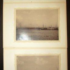 Fotografía antigua: DOS FOTOGRAFÍAS EN HUECOGRABADO DE HAMBURGO. CONRAD DÖRING. ORIGINALES DE 1855 Y 1871.. Lote 178220456