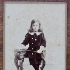 Fotografía antigua: FOTOGRAFIA DE NIÑO- JOSE PRATS- FOT. ANT. Y EMILIO NAPOLEON. BARCELONA. Lote 178679892