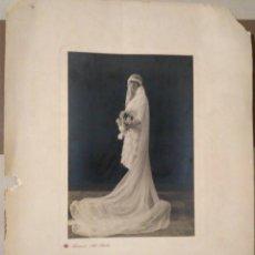 Fotografía antigua: NOVIA MUJER CASADA DIA DE BODA FOTO FRANZEN S.XIX-XX. Lote 178734430