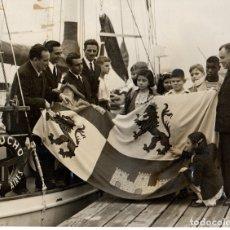 Fotografía antigua: 1947 EDUCACION CIEGOS NIÑOS N YORK ERNESTO URIBURU FOTOGRAFIA PARTIENDO DE PALOS HUELVA POSGUERRA . Lote 178759815