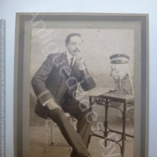 Fotografía antigua: FOTOGRAFÍA SOBRE CARTÓN. CABALLERO. SELLO GARCÍA. GORRO MARINERO. LAS PALMAS. Lote 178778147