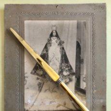 Fotografía antigua: FOTOGRAFIA- MURCIA- VIRGEN- A IDENTIFICAR- 26 X 19 CA 1.910 1.920. Lote 178780076