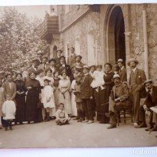 Photographie ancienne: F-4379. VILADRAU (GIRONA). FOTOGRAFIA DE GRUPO. VERANO 1905.. Lote 178898635