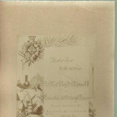 Fotografía antigua: 1231.- MANRESA - HONORIFICO TESTIMONIO S.M EL REY ALFONSO XIII ESCUELA DE ARTES Y OFICIOS DE MANRESA. Lote 178930528