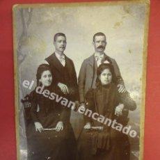 Fotografía antigua: ANTIGUA FOTO DE FAMILIA. ESTUDIO ANGEL MARTINEZ. LA UNIÓN. MURCIA. MED: 16 X 10 CTMS. Lote 178953240