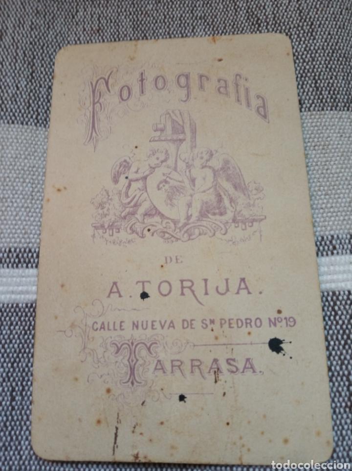 Fotografía antigua: Fotografía albúmina caballero Terrassa. Catalunya.barcelona.foto a. Torija.sabadell.valles - Foto 2 - 179012791
