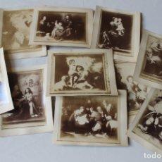 Fotografía antigua: LOTE 10 ALBUMINAS FOTOGRAFIAS CUADROS DE MURILLO MUSEO DE MADRID, FINALES DEL XIX. Lote 179140627