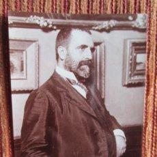 Fotografía antigua: 1900C- JOSÉ CANALEJAS. PRESIDENTE DEL CONSEJO DE MINISTROS DE ESPAÑA. FOTOGRAFÍA ORIGINAL. Lote 179392803