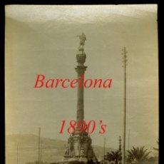 Fotografía antigua: BARCELONA - MONUMENTO A COLÓN - 1890'S. Lote 179519011