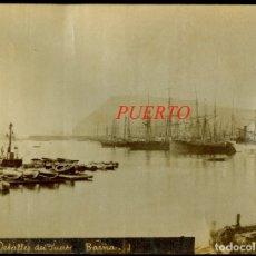 Fotografía antigua: BARCELONA - DETALLES DEL PUERTO - 1890'S - J. E. PUIG . Lote 179519751