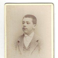 Fotografía antigua: FOTOGRAFÍA- MUCHACHO. FOTÓGRAFO BELTRAN. ZARAGOZA- 1890. Lote 179521206
