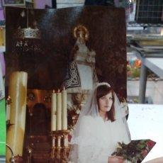 Fotografía antigua: FOTOGRAFIA ORIGINAL AÑOS SETENTA DE NOVIA FOTOGRAFIA RECORTADA. Lote 180009122