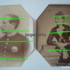 Fotografía antigua: EL GENERAL D. MANUEL CASSOLA FERNÁNDEZ Y SU ESPOSA. SIGLO XIX.. Lote 180211511