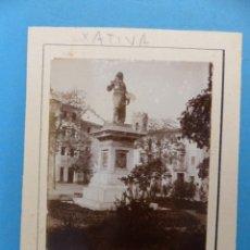Fotografía antigua: XATIVA, VALENCIA - VISTA - FOTOGRAFICA - AÑOS 1920-30. Lote 180393175
