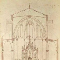 Fotografía antigua: 4 ALBÚMINAS DE IGLESIAS. CON DEDICATORIAS DEL ARQUITECTO EMILIO SALA CORTES. ESPAÑA XIX-XX. Lote 180454386