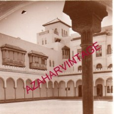 Fotografía antigua: MARRUECOS, SIGLO XIX, ALBUMINA PATIO DE PALACIO, 75X95MM. Lote 180879491