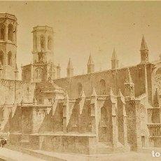 Fotografía antigua: PROYECTO RESTAURACIÓN CATEDRAL TARRAGONA. FOTO. AUTÓGRAFO DE E. ROGENT Y A. FONT. ESPAÑA 1884. Lote 181026811