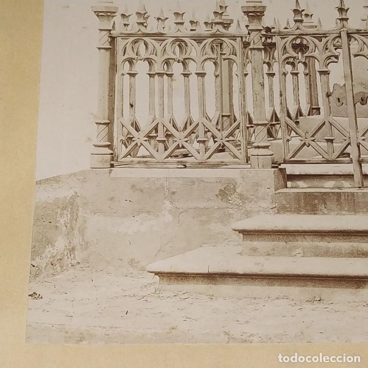 Fotografía antigua: PANTEÓN NEOGÓTICO. FOTOGRAFÍA. ALBÚMINA. ESPAÑA. FINALES SIGLO XIX - Foto 6 - 181028611