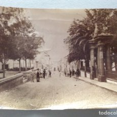 Fotografía antigua: FOTOGRAFÍA ALBUMINA. CALLE. PROBABLEMENTE CANARIAS. FOTO ANONIMA. 15.5X21 CMS.. Lote 181667492