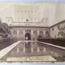 Fotografía antigua: FOTOGRAFÍA ALBUMINA. FOTO GARZÓN 305. PATIO DE LOS ARRAYANES, VISTA GENERAL. ALHAMBRA. GRANADA.. Lote 181682347
