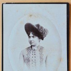 Fotografía antigua: FOTOGRAFIA ANTIGUA - DAMA - FOTOGRAFO M MATORRODONA BARCELONA- 14 X 10 CM. Lote 181720522