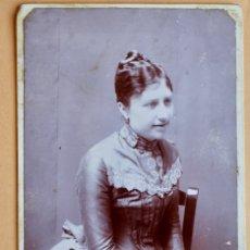 Fotografía antigua: ANTIGUA FOTO - EN LAPIZ ADELA FONTANALS - 16 X 10 CM. Lote 181732341