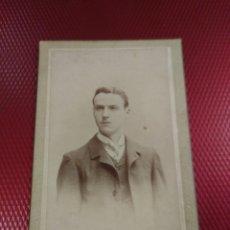 Fotografía antigua: GRAN FOTOGRAFÍA DE ENRIQUE BELTRÁN. ZARAGOZA. RETRATO CABALLERO.. Lote 181750798