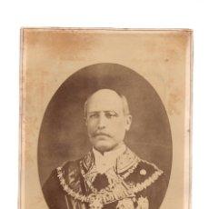 Fotografía antigua: ALBÚMINA DEL GENERAL SERRANO.- 12,5 X 18,5.. Lote 181787036