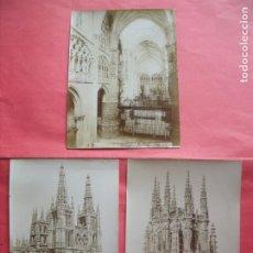 Fotografía antigua: A. VADILLO.-FOTOGRAFO.-BURGOS.-CATEDRAL.-ALBUMINAS.-LOTE DE 3 ALBUMINAS.-BURGOS.. Lote 182084692