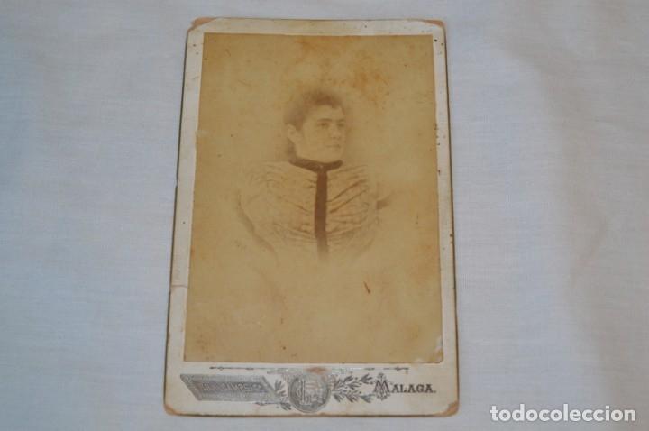 FOTOGRAFÍA ALBÚMINA, FINALES 1800 - ROJO CAMPS Y CÍA. - STA. MARÍA 8 / MÁLAGA - ¡MIRA! (Fotografía Antigua - Albúmina)