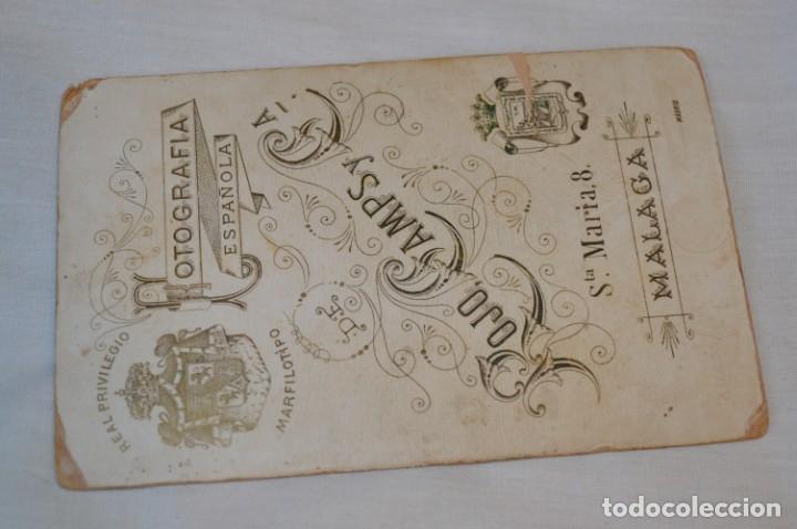 Fotografía antigua: Fotografía albúmina, finales 1800 - ROJO CAMPS y CÍA. - Sta. María 8 / Málaga - ¡Mira! - Foto 6 - 182351300