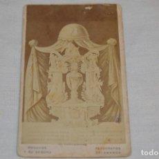 Fotografía antigua: SANTO CORAZÓN DE LA SERÁFICA REFORMADORA DEL CARMEN STA. TERESA. / SALAMANCA - AÑO 1871. Lote 182357558