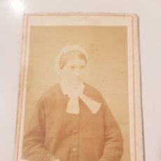 Fotografía antigua: FOTOGRAFÍA ANTIGUA. ANCIANA.(10'5 × 6'5 CTM). Lote 182426232