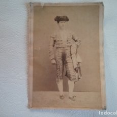 Fotografía antigua: ANTIQUISIMA ALBUMINA ORIGINAL DEL FAMOSO MATADOR DE TOROS MANUEL HERMOSILLA DEL AÑO 1877. Lote 182532295