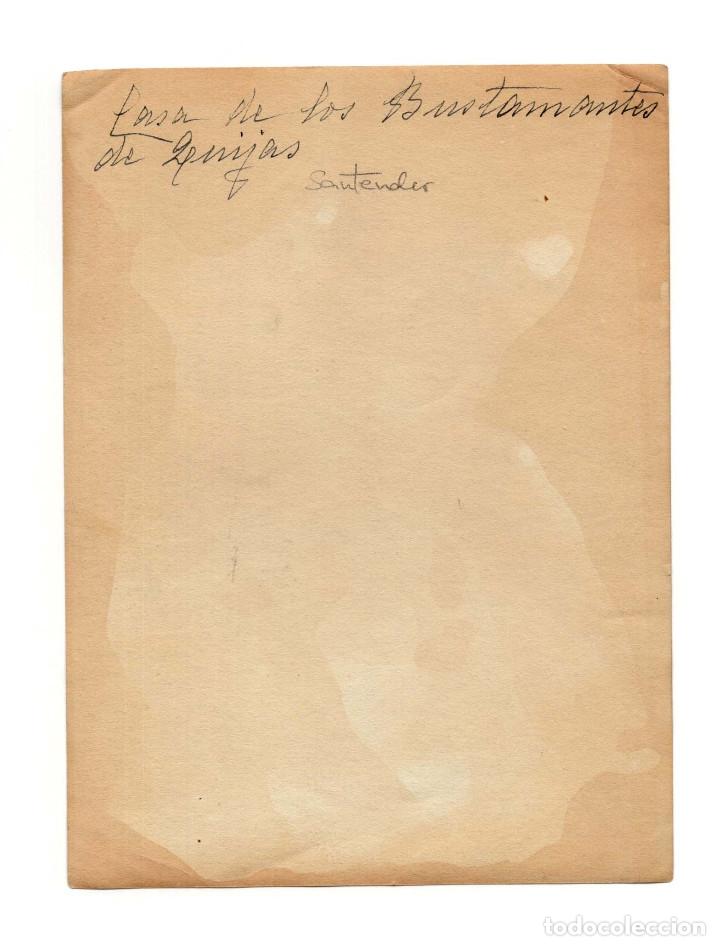 Fotografía antigua: SANTANDER.(CANTABRIA).- CASA DE LOS BUSTAMANTES DE LEMIJAS. 17 X 12,5. - Foto 2 - 182572537