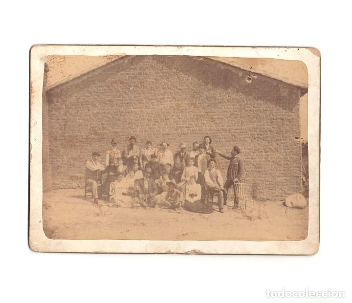 SEVILLA LA NUEVA.(MADRID).- FIESTAS DE 1891. FOTO FAMILIAR.18X13. (Fotografía Antigua - Albúmina)