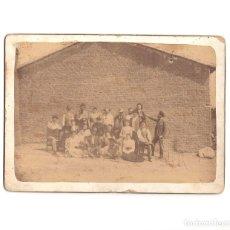 Fotografía antigua: SEVILLA LA NUEVA.(MADRID).- FIESTAS DE 1891. FOTO FAMILIAR.18X13.. Lote 182575382