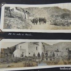 Fotografía antigua: ANTIGUO ALBUM CON FOTOS FOTAGRAFIAS PANORAMICAS ESPAÑA ANTIGUA , MILITAR AÑOS 20-30. Lote 182666583