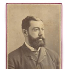 Fotografía antigua: ANTIGUA FOTOGRAFIA DE UN SEÑOR EN CUBA, J.A. SUAREZ Y CIA HABANA. Lote 182670111
