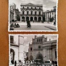 Fotografia antica: DOS FOTOS CASTELLON DE LA PLANA 1958 9 X 7 CM 8APROX). Lote 182856983