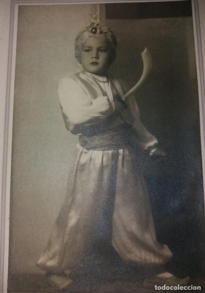 Fotografía antigua: Fotografía antigua. Niño con traje de moro (moros y cristianos), Alicante, años 30-40. Hodar - Foto 2 - 183198482
